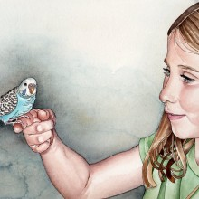 "View ""Girl with a Parakeet"""